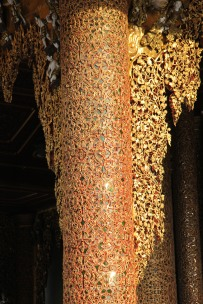 Pagode de shwedagon Décoration d une Colonne