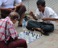 Joueurs d échec dans la rue