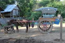 Site de Ava , visite du village , Balade en carriole pour touristes ...