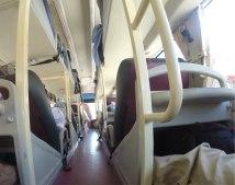 L intérieur du sleeping bus