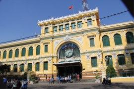 La poste de Saigon construite par les français