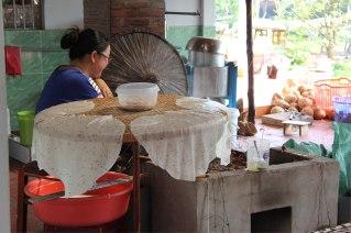 Fabrication de galette de riz